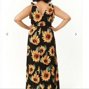 Plus size sunflower maxi dress